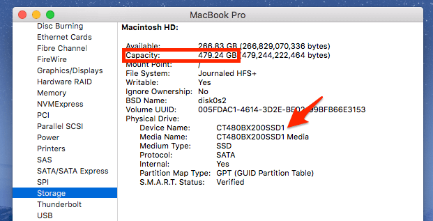 SSD-on-MacBookPro