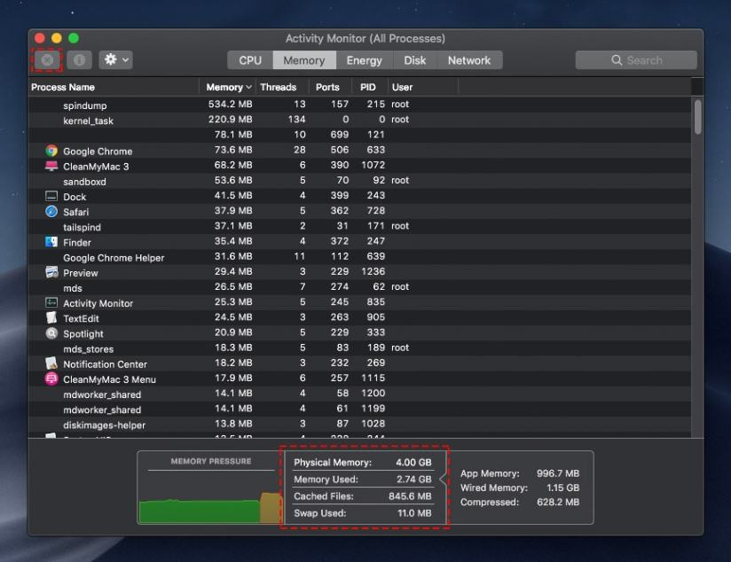 Memory-Used-on-macOS-Mojave