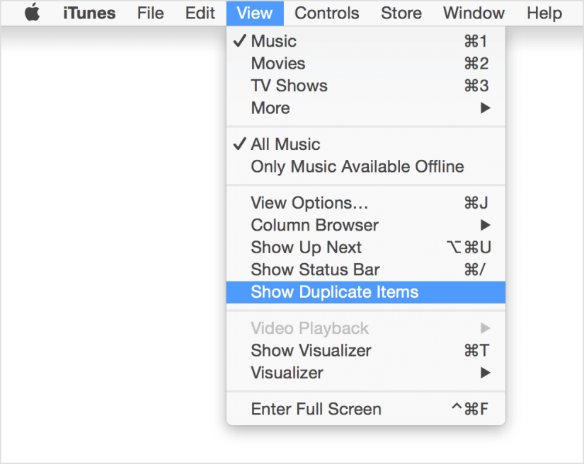 Show-Duplicate-Items-iTunes